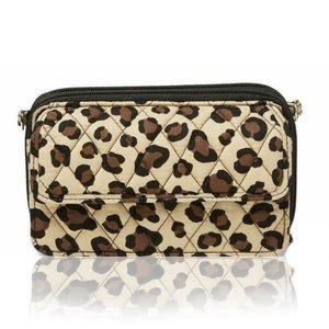 Vera Bradley leopard Crossbody purse